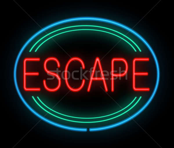 Escape sign. Stock photo © 72soul