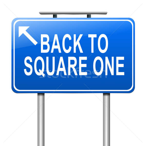 Back to square one. Stock photo © 72soul