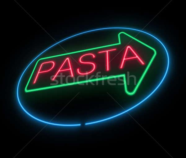 Neon pasta sign. Stock photo © 72soul