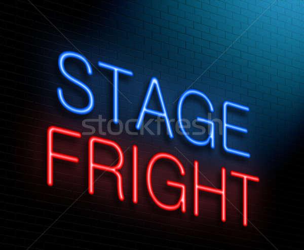 этап испуг иллюстрация синий Сток-фото © 72soul