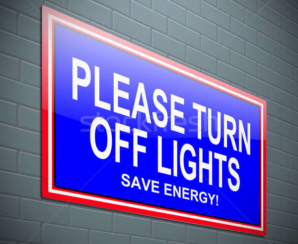 Turn off light concept. Stock photo © 72soul