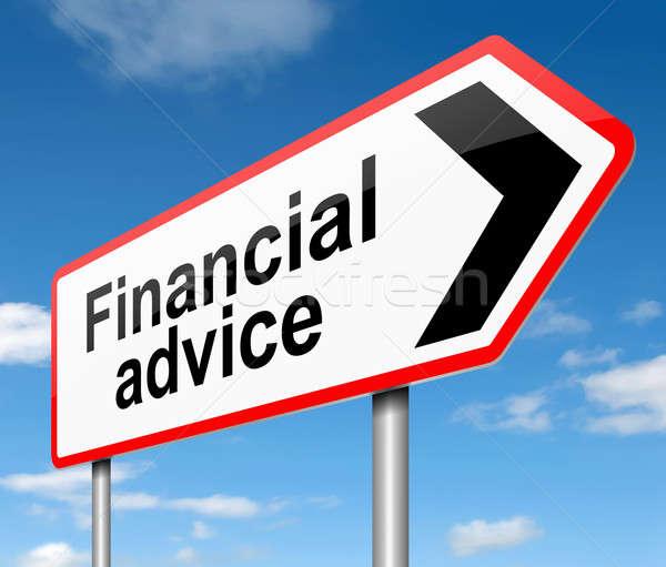 финансовые консультации иллюстрация знак помочь Финансы информации Сток-фото © 72soul