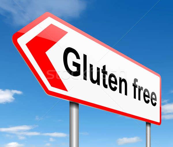 Sin gluten ilustración signo salud gráfico senalización de la carretera Foto stock © 72soul