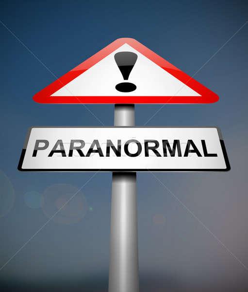 паранормальный иллюстрация знак магия Scary концепция Сток-фото © 72soul