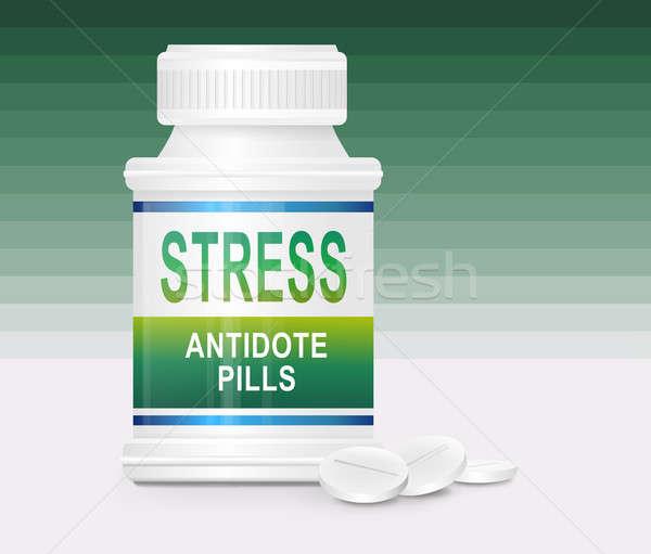 ストックフォト: ストレス · 実例 · コンテナ · 単語 · 解毒剤