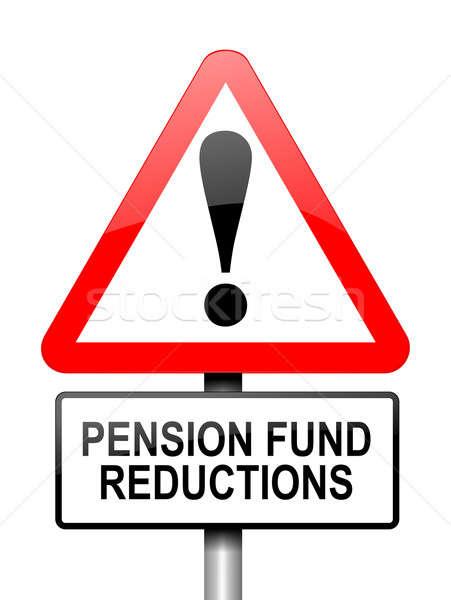Pension fonds déception illustration rouge blanche Photo stock © 72soul