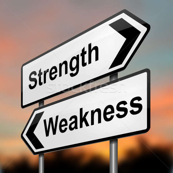 Strengths or weakness concept. Stock photo © 72soul