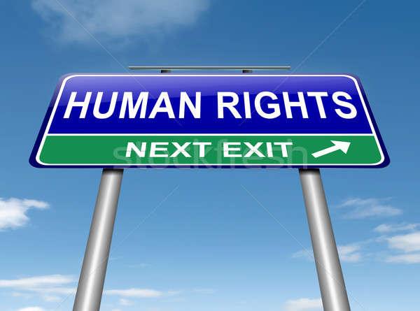 Insan hakları örnek gökyüzü arka plan imzalamak Stok fotoğraf © 72soul