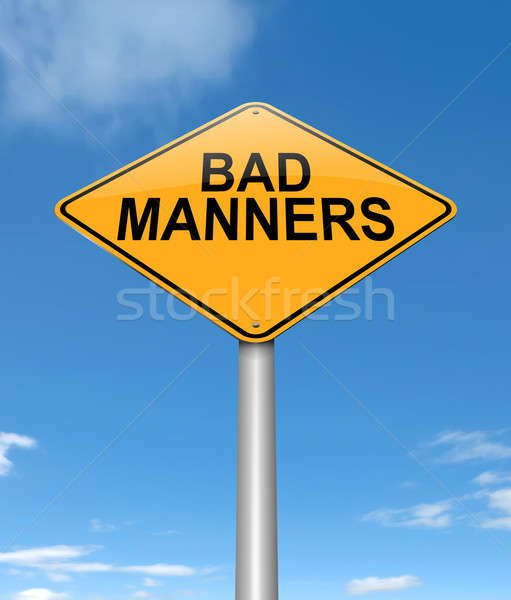 Bad manners concept. Stock photo © 72soul