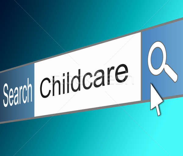 Childcare search concept. Stock photo © 72soul