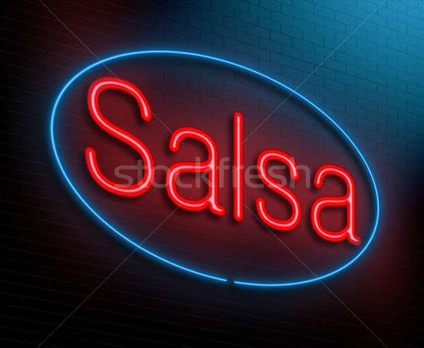 Salsa örnek neon dans uygunluk Stok fotoğraf © 72soul