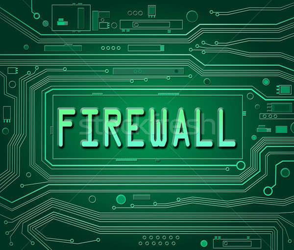 Firewall resumen estilo ilustración componentes Foto stock © 72soul
