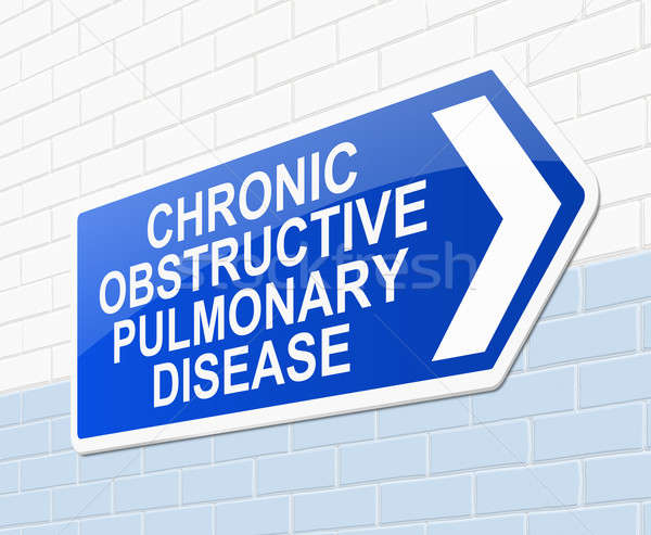 Chronic obstructive pulmonary disease concept. Stock photo © 72soul