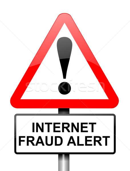 Internet fraude ilustración rojo blanco alerta Foto stock © 72soul
