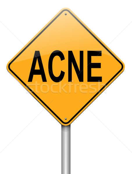 Acne illustratie witte gezicht gezondheid Stockfoto © 72soul