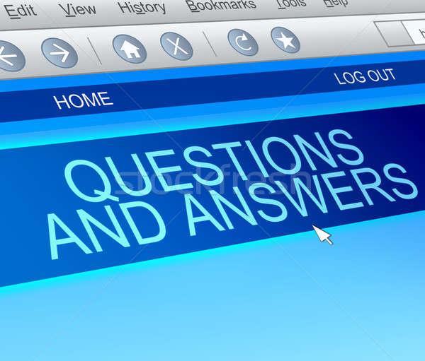 Kérdések válaszok illusztráció képernyő zsákmányolás internet Stock fotó © 72soul