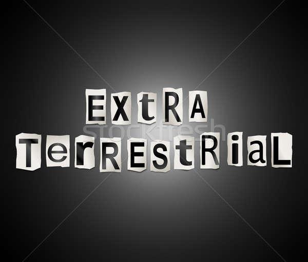 Extra terrestrial concept. Stock photo © 72soul