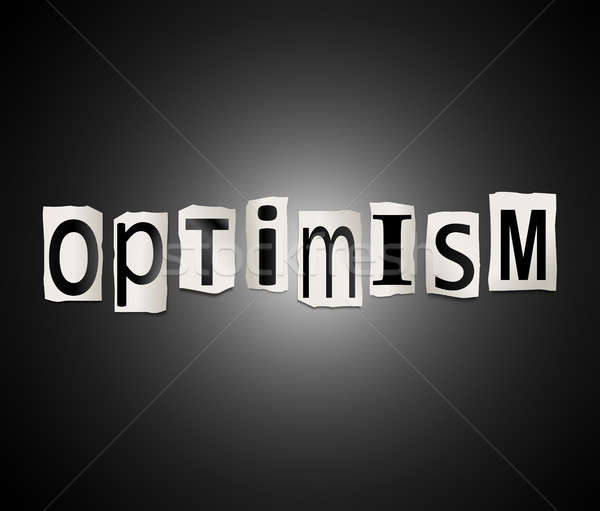 Optimism word concept. Stock photo © 72soul