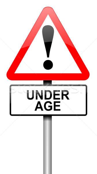 Under age concept. Stock photo © 72soul