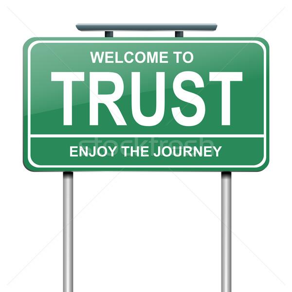 Vertrouwen illustratie groene teken witte Stockfoto © 72soul