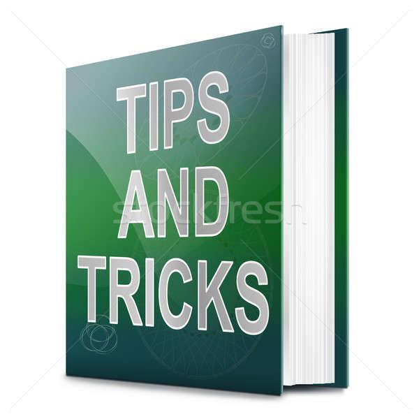 Tippek illusztráció könyv cím fehér háttér Stock fotó © 72soul