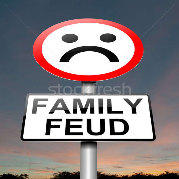 Family feud concept sign. Stock photo © 72soul