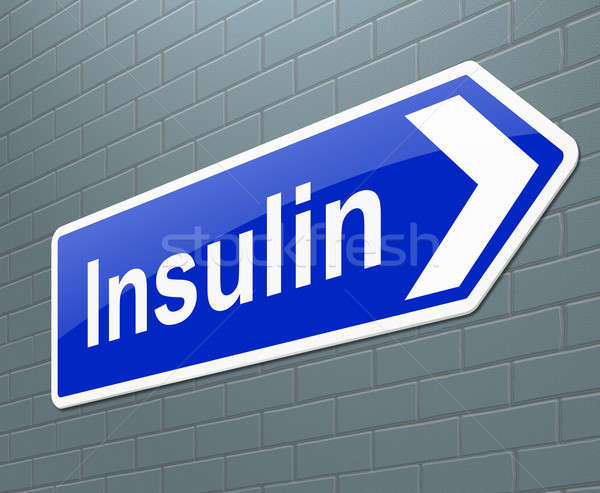 инсулин иллюстрация знак здоровья медицина графических Сток-фото © 72soul