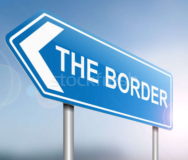 Border sign concept. Stock photo © 72soul