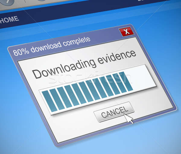 Downloading evidence concept. Stock photo © 72soul