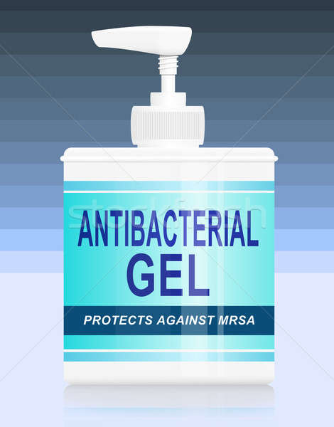 Antibacteriële gel illustratie Blauw streep helling Stockfoto © 72soul