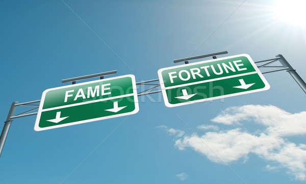 Roem illustratie snelweg teken blauwe hemel business Stockfoto © 72soul