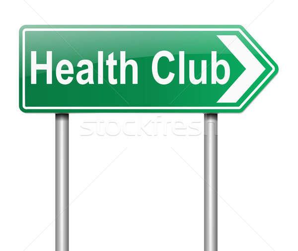 Health club sign. Stock photo © 72soul
