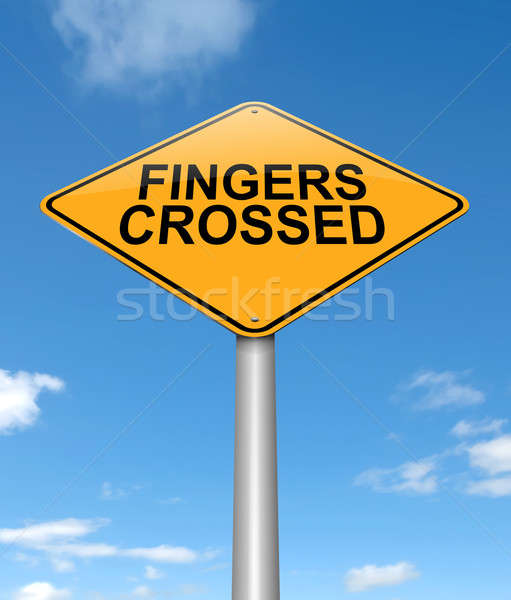 Fingers crossed. Stock photo © 72soul