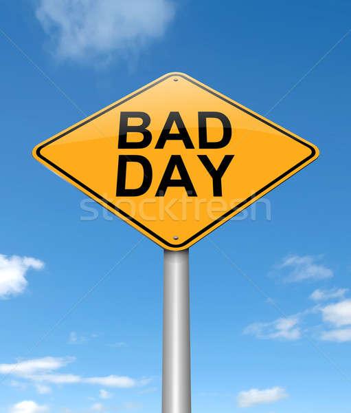 Slechte dag illustratie teken achtergrond nieuws Stockfoto © 72soul