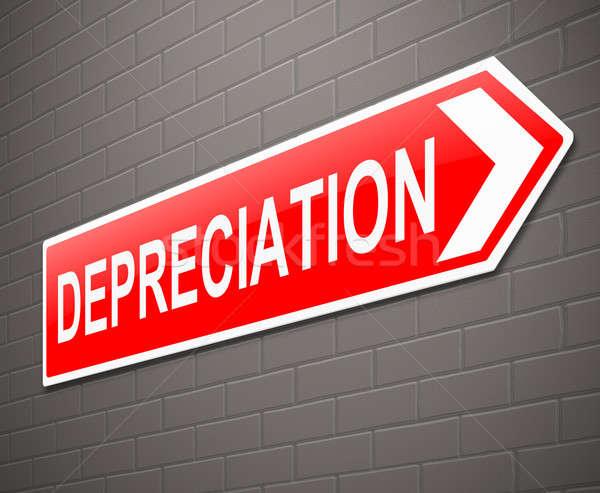 Depreciation concept. Stock photo © 72soul