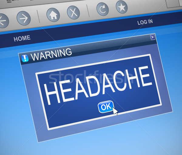 Headache concept. Stock photo © 72soul