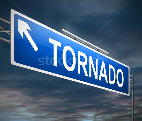 Tornado ilustração assinar tempestade gráfico conceptual Foto stock © 72soul