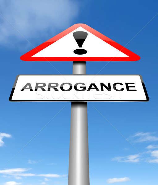 Arrogance sign concept. Stock photo © 72soul