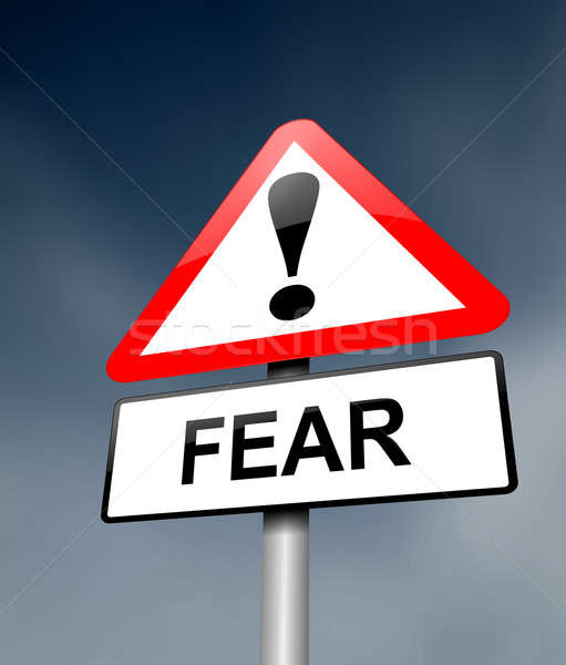 Fear warning concept. Stock photo © 72soul