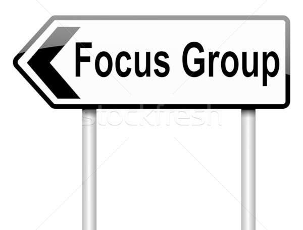 Groupe de discussion illustration blanche fond signe Photo stock © 72soul
