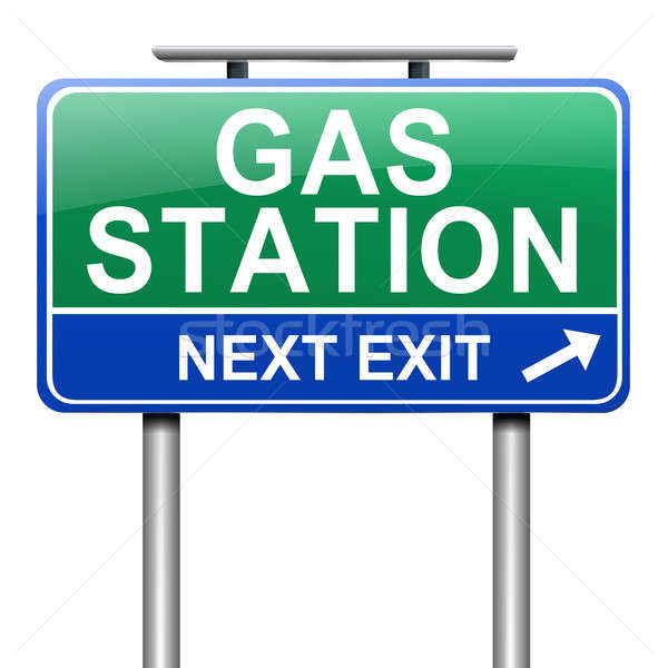Gas station sign. Stock photo © 72soul