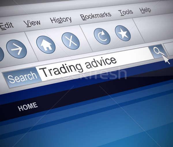 Handel illustratie screenshot internet Zoek technologie Stockfoto © 72soul