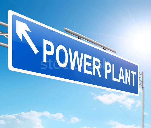 Power plant concept. Stock photo © 72soul