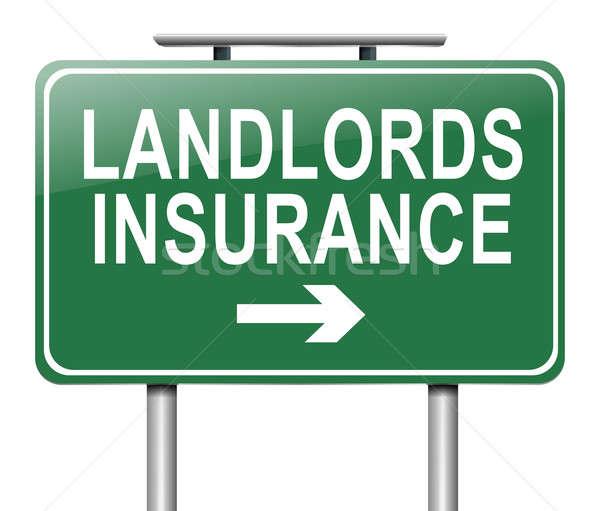Landlords insurance concept. Stock photo © 72soul