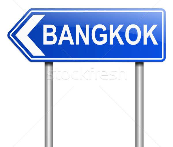 Bangkok teken illustratie grafische thai Stockfoto © 72soul