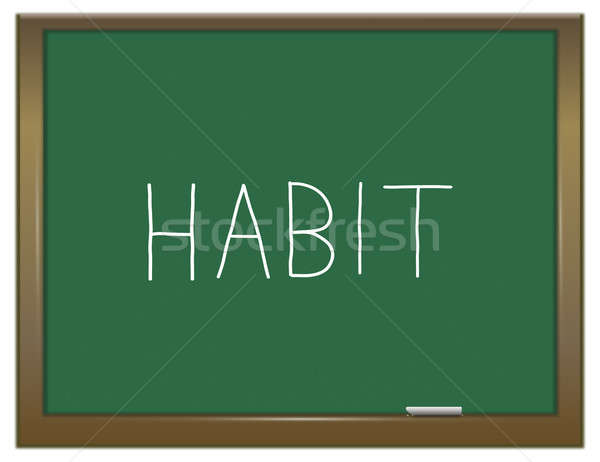 Habitude mot illustration vert tableau modèle Photo stock © 72soul