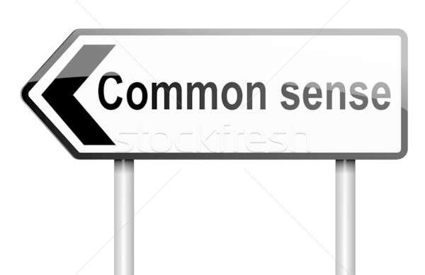 Zin illustratie weg verkeersbord witte business Stockfoto © 72soul