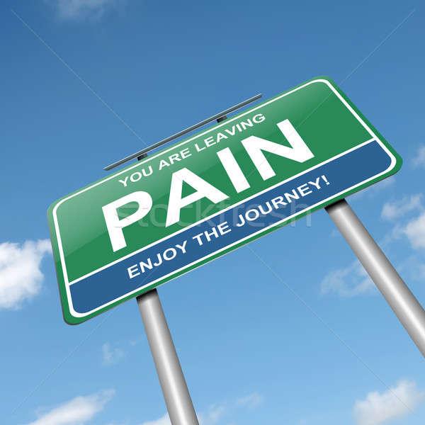 Pijn illustratie groene witte gezondheid Stockfoto © 72soul