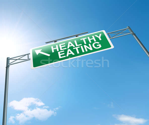 Stock photo: Healthy eating concept.