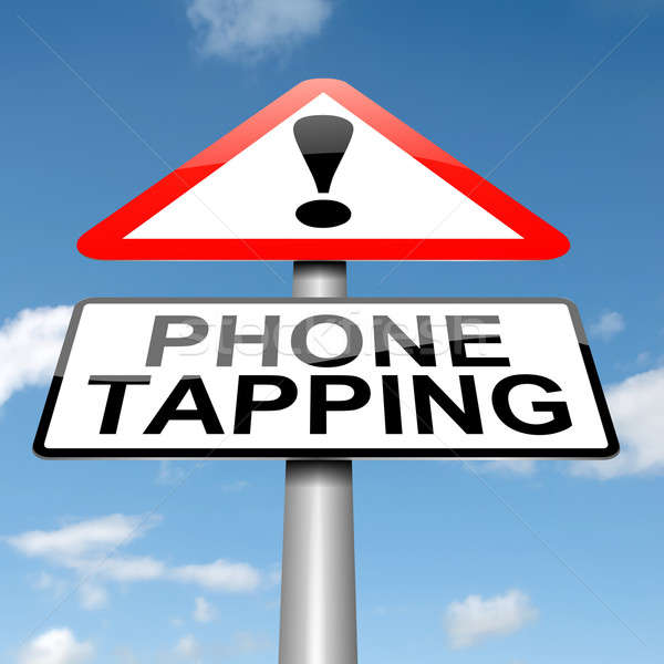 Phone tapping warning sign. Stock photo © 72soul